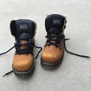 DR MARTENS steel toe boots